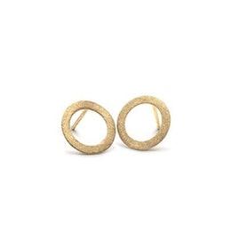 Small open coin earsticks fra Pernille Corydon i Forgyldt-Sølv Sterling 925