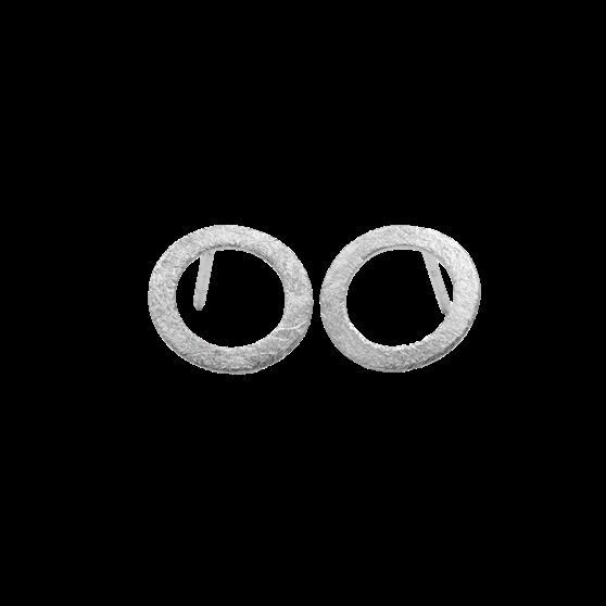 Small open coin earsticks von Pernille Corydon in Silber Sterling 925