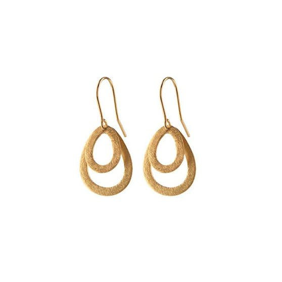 Mini Double Drop earring fra Pernille Corydon i Forgylt-Sølv Sterling 925| ,Blank