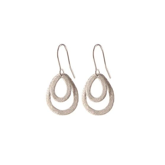 Mini Double Drop earring von Pernille Corydon in Silber Sterling 925| ,Blank
