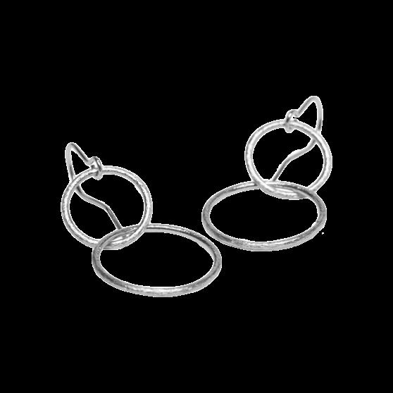 Double Plain Hook fra Pernille Corydon i Sølv Sterling 925