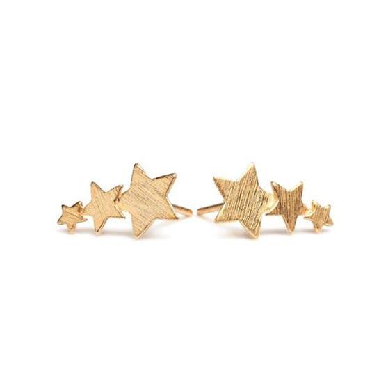 Shooting star earsticks von Pernille Corydon in Vergoldet-Silber Sterling 925|