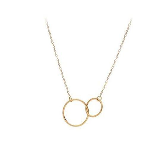 Double plain necklace fra Pernille Corydon i Forgylt-Sølv Sterling 925| Matt,Blank