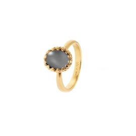 Gilded Marvels ring w. Grey Moonstone