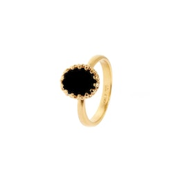 Gilded Marvels ring w. Black Agate