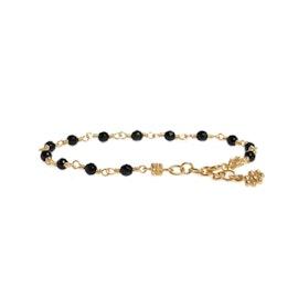 Carré Archive bracelet w. Black Agate stones