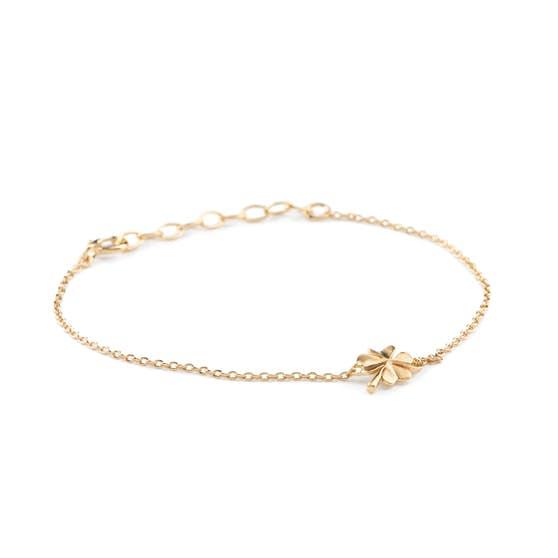 Clover bracelet fra Pernille Corydon i Forgylt-Sølv Sterling 925| Matt,Blank