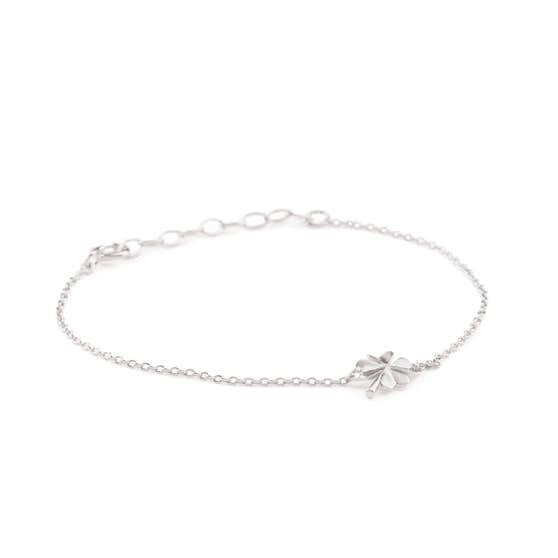 Clover bracelet från Pernille Corydon i Silver Sterling 925| Matt,Blank
