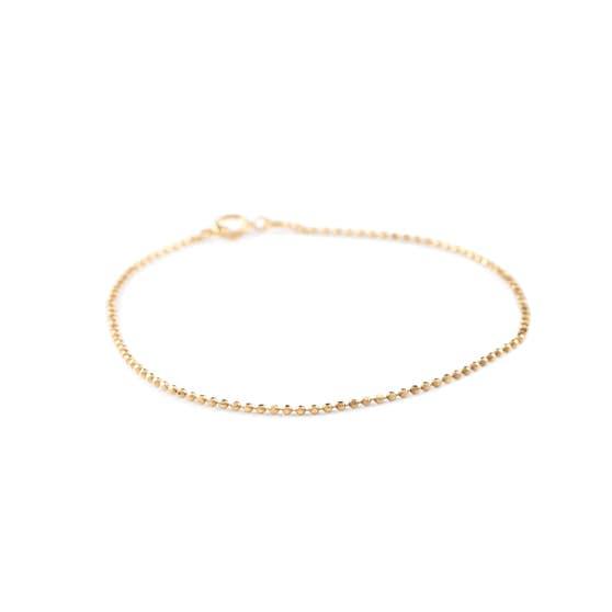 Facet Plain bracelet medium von Pernille Corydon in Vergoldet-Silber Sterling 925