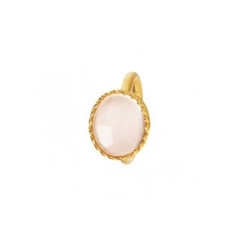 Big Gilded Marvels ring w. Rose Quartz