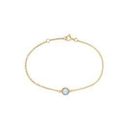 Carré Archive bracelet w. Blue Topaz stone