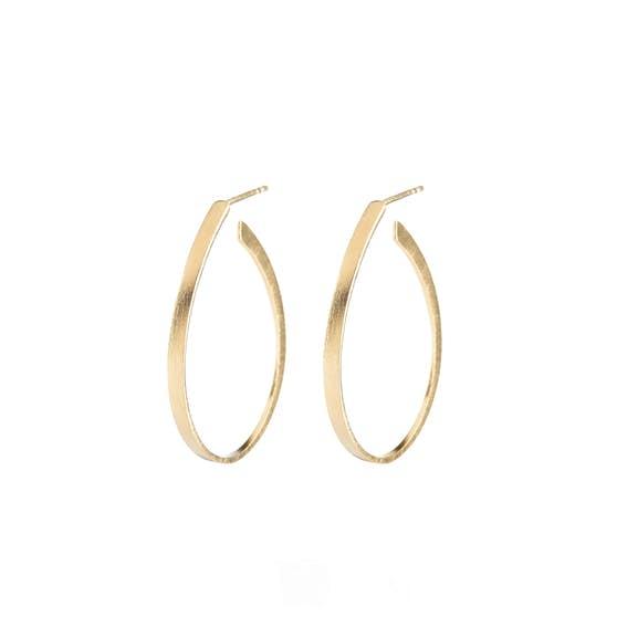 Oval Creol earrings von Pernille Corydon in Vergoldet-Silber Sterling 925|