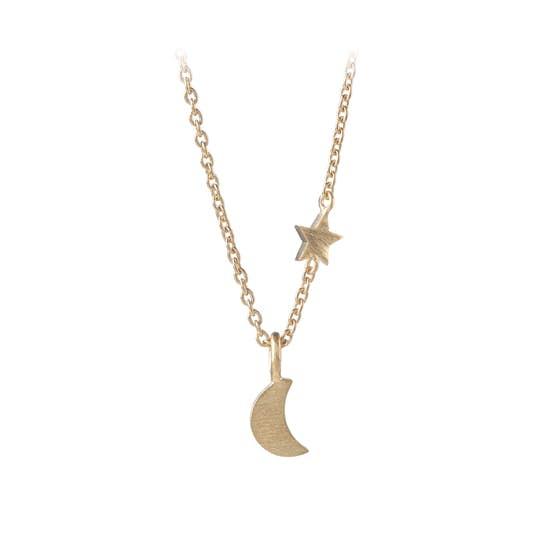 Luna Star necklace fra Pernille Corydon i Forgyldt-Sølv Sterling 925  Matt,Blank