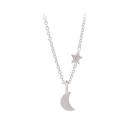 Luna Star necklace fra Pernille Corydon i Sølv Sterling 925| Matt,Blank
