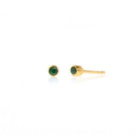 Romance Earsticks w. Emeralds