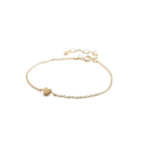 Heart bracelet från Pernille Corydon i Förgyllt-Silver Sterling 925| Matt,Blank