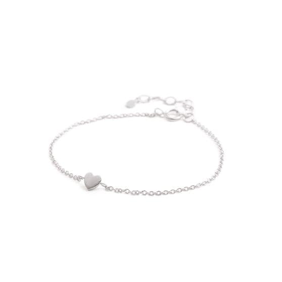 Heart bracelet fra Pernille Corydon i Sølv Sterling 925| Matt,Blank