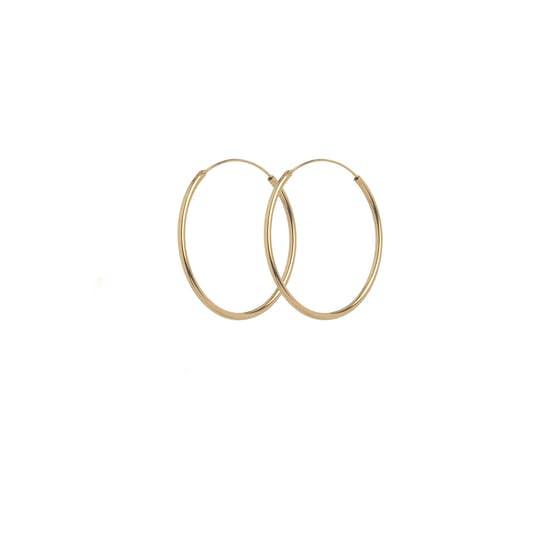 Plain Hoop earrings from Pernille Corydon in Goldplated-Silver Sterling 925