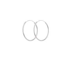 Plain Hoop earrings fra Pernille Corydon i Sølv Sterling 925