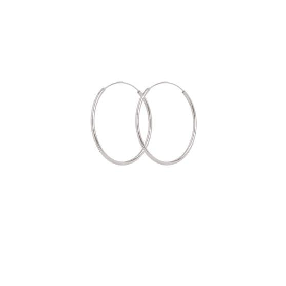 Plain Hoop earrings from Pernille Corydon in Silver Sterling 925