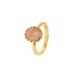 Gilded Marvels ring w. Sand Moonstone