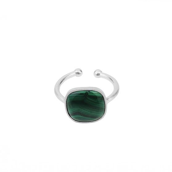 Malachite ring fra Pernille Corydon i Sølv Sterling 925