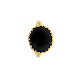 Big Gilded Marvels ring w. Black Agate