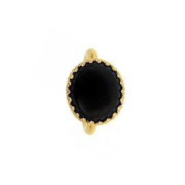 Big Gilded Marvels ring w. Black Agate