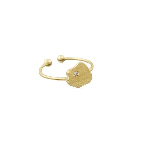 Anton ring fra A-Hjort i Forgylt-Sølv Sterling 925