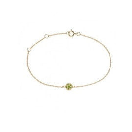 10 ct. Gold Lady Luck bracelet Chrome Diopside