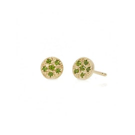 10 ct. Gold Lady Luck earrings w. Chrome Diopside