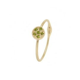 10 ct. Gold Lady Luck ring w. Chrome Diopside