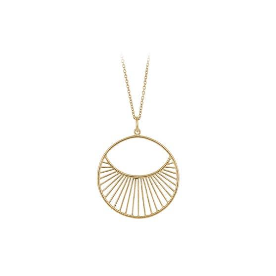 Daylight Short necklace från Pernille Corydon i Förgyllt-Silver Sterling 925| Matt,Blank