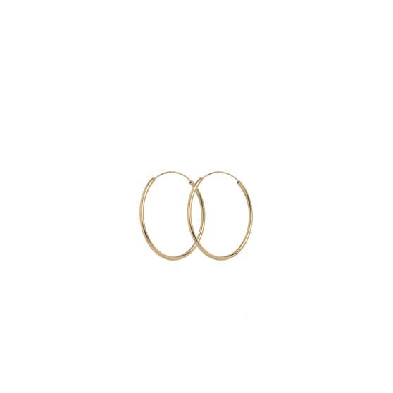 Mini Plain Hoop earrings from Pernille Corydon in Goldplated-Silver Sterling 925