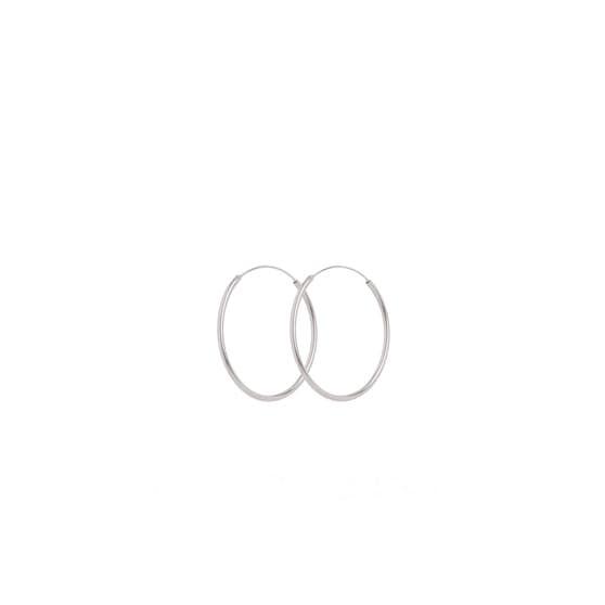 Mini Plain Hoop earrings von Pernille Corydon in Silber Sterling 925