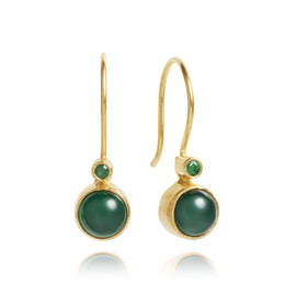 Carré Archive earrings Green