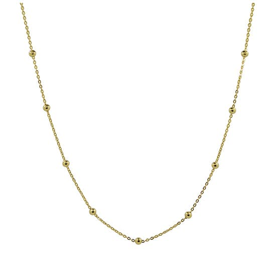 Anne necklace from A-Hjort in Goldplated-Silver Sterling 925|Blank