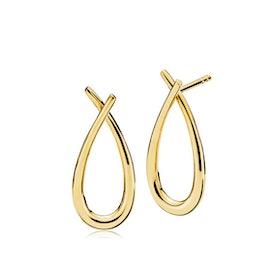 Attitude Medium earrings fra Izabel Camille i Forgyldt-Sølv Sterling 925