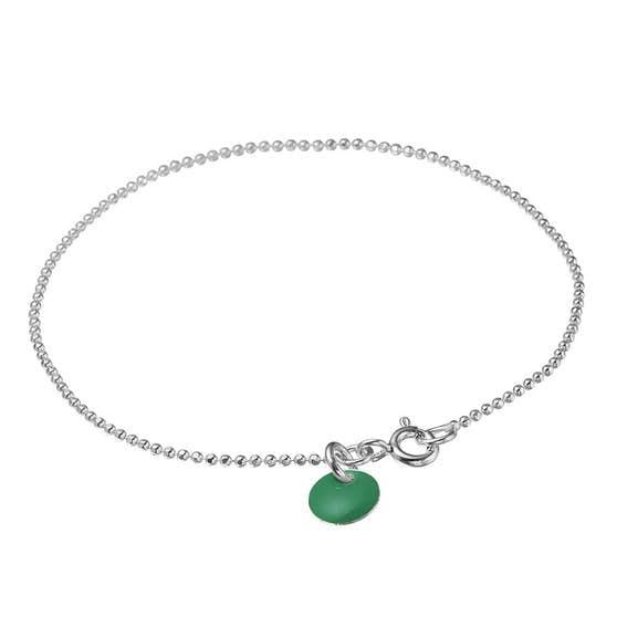 Enamel bracelet Petrol Green von Enamel Copenhagen in Silber Sterling 925|Blank