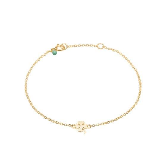 Clover bracelet fra Enamel Copenhagen i Forgyldt-Sølv Sterling 925| Blank,Matt