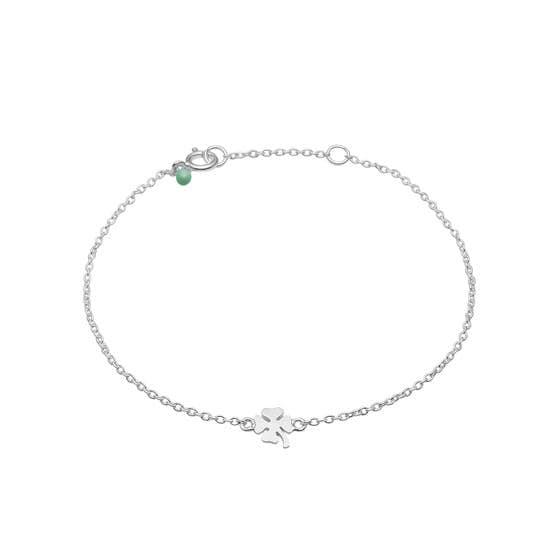 Clover bracelet från Enamel Copenhagen i Silver Sterling 925| Matt,Blank