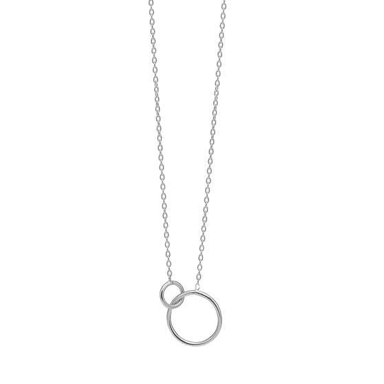 Double Circle necklace fra Enamel Copenhagen i Sølv Sterling 925|Blank