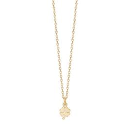 Clover necklace fra Enamel Copenhagen i Forgyldt-Sølv Sterling 925| Matt,Blank