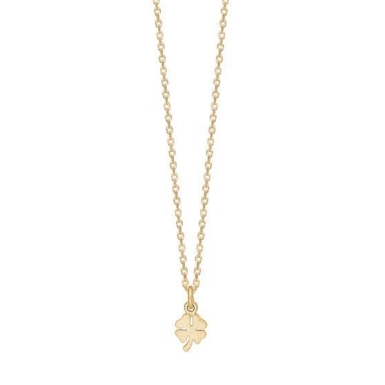 Clover necklace fra Enamel Copenhagen i Forgylt-Sølv Sterling 925| Matt,Blank
