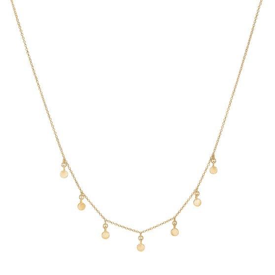 Raindrops Choker necklace von Enamel Copenhagen in Vergoldet-Silber Sterling 925| Matt,Blank