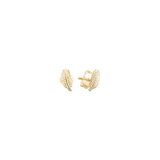 Leaf earsticks von Enamel Copenhagen in Vergoldet-Silber Sterling 925