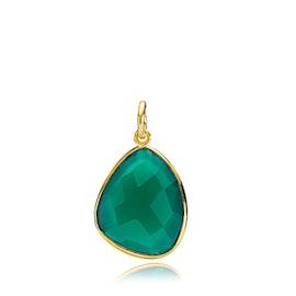 Orient green onyx pendant
