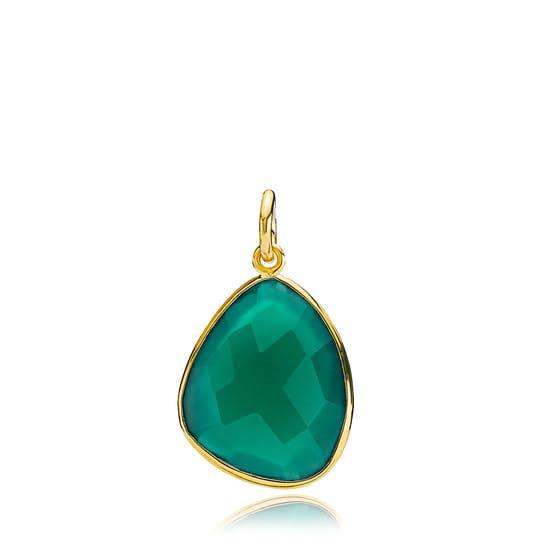 Orient green onyx pendant von Izabel Camille in Vergoldet-Silber Sterling 925