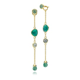 Orient green onyx earrings