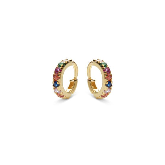 Nubia Colour creols from Maanesten in Goldplated-Silver Sterling 925